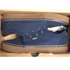 Vans Chukka Low Rich Navy Gum Shoes Size Youth 4.5
